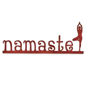 Namasta Metal Sign