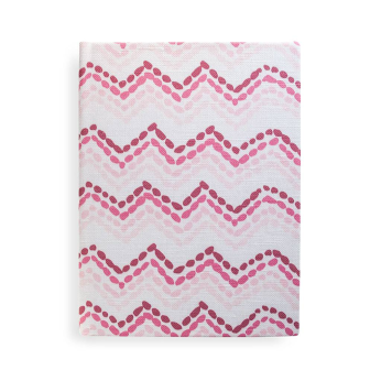 Chevron Beads Journal in Pink & Berry, unlined blank pages