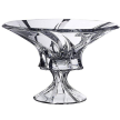 """Aurum Crystal 12'' Diameter """"Oklahoma"""" Collection Crystal Clear Round Footed Bowl, Candy Vase"""