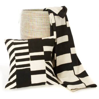 Mali Mod Organic Cotton Mudcloth Pillow & Throw Blanket