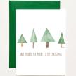 Tree Christmas Greeting Card