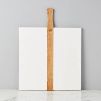 White Square Italian Pizza Board, Large