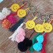 NEW TREND S/S 2021 yellowsmiley crochet pompom keychain
