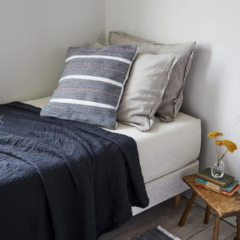Handwoven Decorative Pillow - Stone