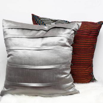 Art Silk Fabric And Cotton Cloth Throw Pillow