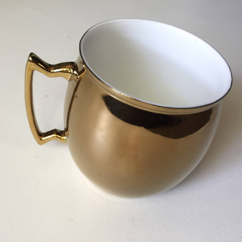 Moscow FUEL Coffee Mug in gold