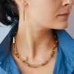 BRONZE PAPER CHAIN LINK NECKLACE