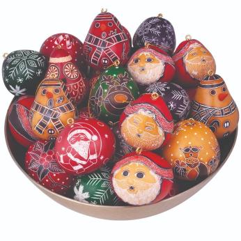 Christmas Mini Gourd Ornament Mix