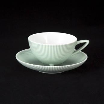 Pinstripe - Celadon Cup & Saucer