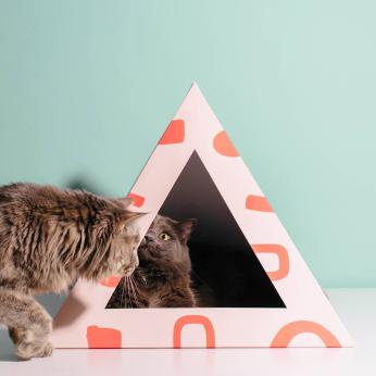'Scatter' Cardboard Cat Pyramid