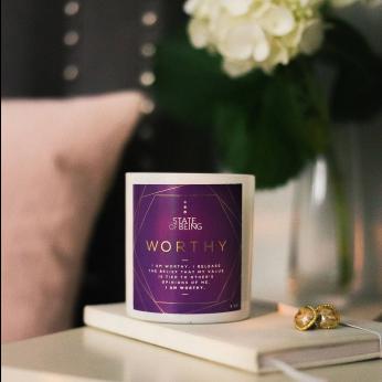 Affirmation candle - Worthy