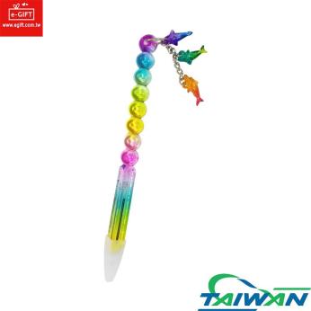 3 Sharks Ball Pen Glossy Rainbow Color / Novelty Pen / Gift Pen / Souvenirs