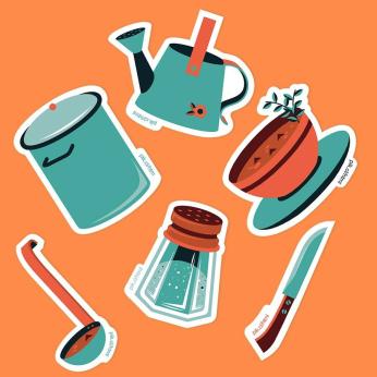 kitchen stuff Stickers Pack
