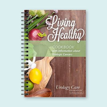 Living Healthy Cookbook with Information about Urologic Cancers