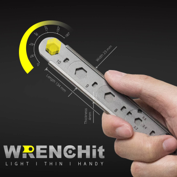 WrenchIt with Pouch | EDC Multi-Tool Wrench