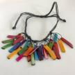 Tagua Fragments 5 Knots Necklace