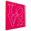 Love   Neon Acrylic Translucent Shadow Box