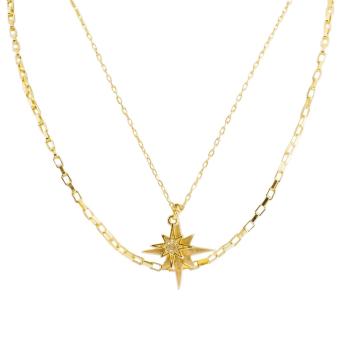 Gold-Layered Starburst Pendant Necklace