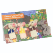 Three Little Pigs Story Pack - Set of 4 Organic Cotton Finger Puppets