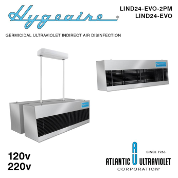 Hygeaire(R) Germicidal Ultraviolet (UV-C) Indirect Air Disinfection Fixtures