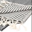 Cala Sustainable Turkish Towel / Blanket Black