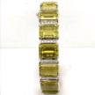 Lemon Quartz and Diamond Block Bracelet