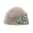 Felt Flower Hat - Gray