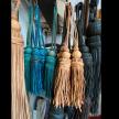 Leather Moroccan Tassel Tie Backs,