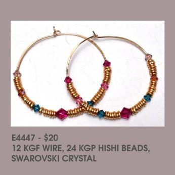 Hishi /Swarovski crystal Hoop