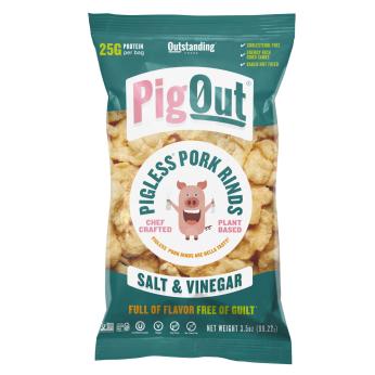PigOut Pigless Pork Rinds - Salt & Vinegar (3.5 oz)
