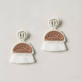 Handmade Small Copper Earrings