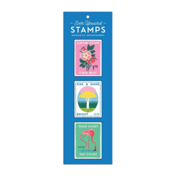Ever Upward Stamps Shaped Magnetic Bookmarks