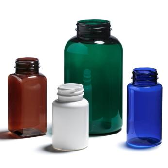 Plastic bottles and jars