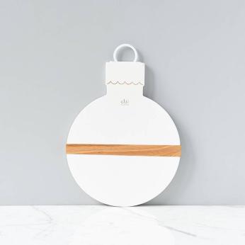 White Mod Ornament Charcuterie Board, Small