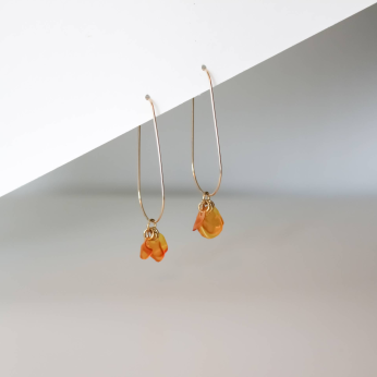 Ginevra Orange Drops / Sustainable Recycled Earrings