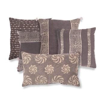 Archaic Cotton Khadi Cushion Cover