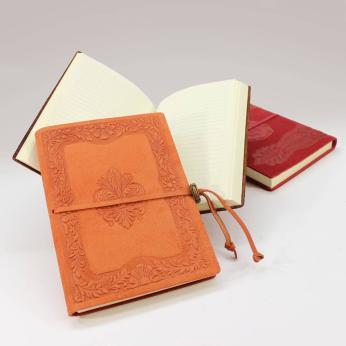 Heraldic-style Leather Notebook