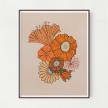 Retro Floral Unframed Art Print