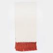 Handwoven Orange Macrame Blanket