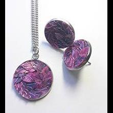 necklace set + stainless steel earrings lilacrose