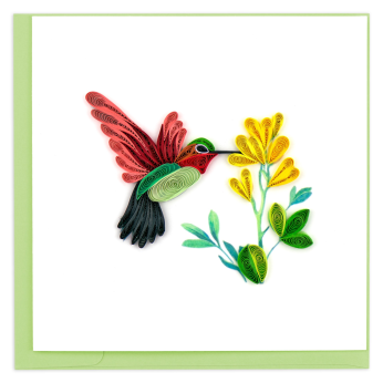 Quilled Hummingbird Greeting Card
