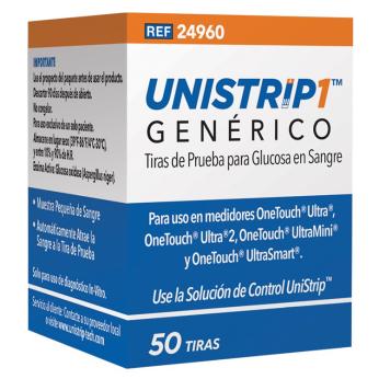 Tiras reactivas genéricas de glucosa en sangre Unistrip™