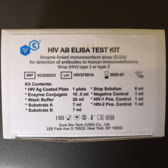 ELISA Test kits for HIV  HBSAG HCV TP and more infectious disease