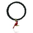 """""""Red Cardinal Bird """" Swarovski Crystal Wrap Bracelet"""