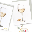 White Wine with Cork Note Cards, Set of 8