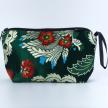Dark Green Tibetan Brocade Silk Toiletry Bag (0031DG)
