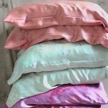 Plant-Dyed Silk Pillowcases
