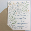 """Louisa May Alcott """"Nothing is impossible to..."""" Greeting Card"""