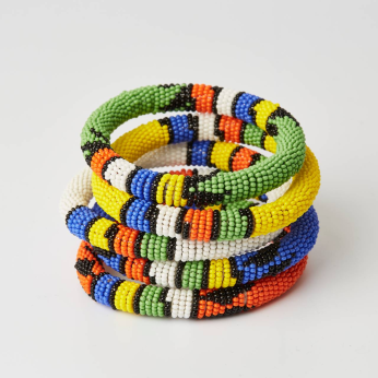 Maasai Beaded Bangles - Multiple Colors