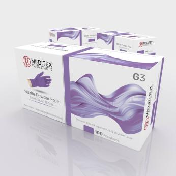 Meditex G3 - Powder Free Medical Nitrile Gloves